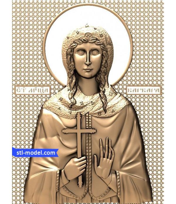 "Icon ""Saint Barbara"" | STL - 3D model for CNC"