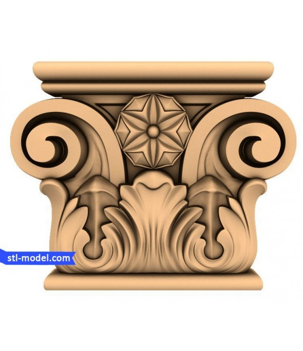 "Chapiter ""Chapiter #5"" | STL - 3D model for CNC"