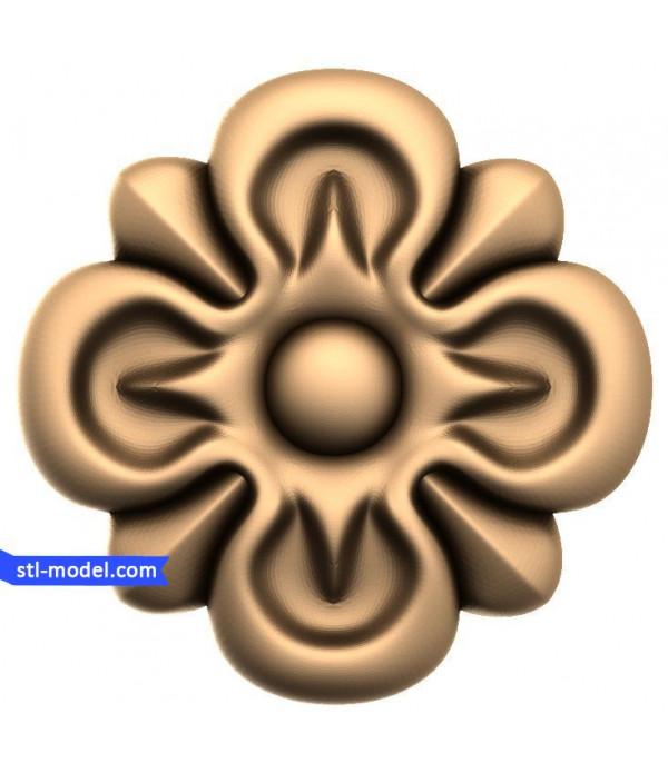 """Rosette """"Rosette #20""""   STL - 3D model for CNC"""