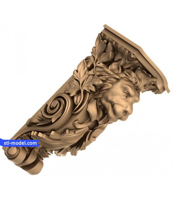"Corbel ""Corbel #83""   STL - 3D model for CNC"
