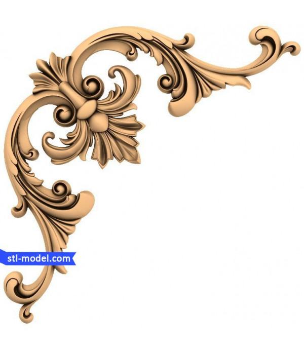 "Corner decor ""Corner decor #9"" | STL - 3D model for CNC"