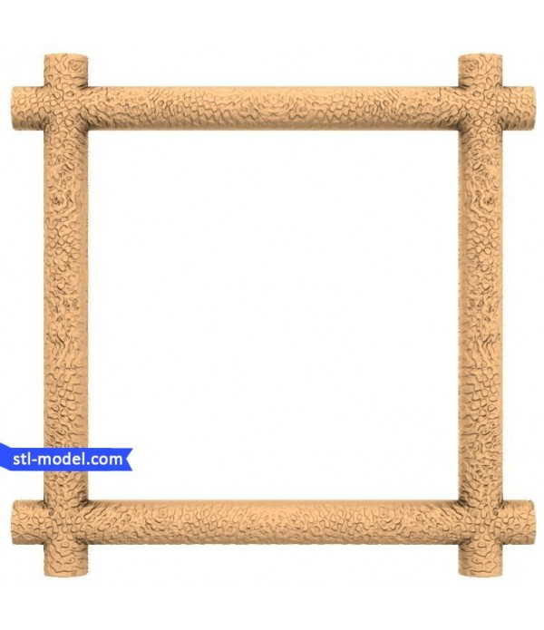 "Frame ""Frame #104""   STL - 3D model for CNC"