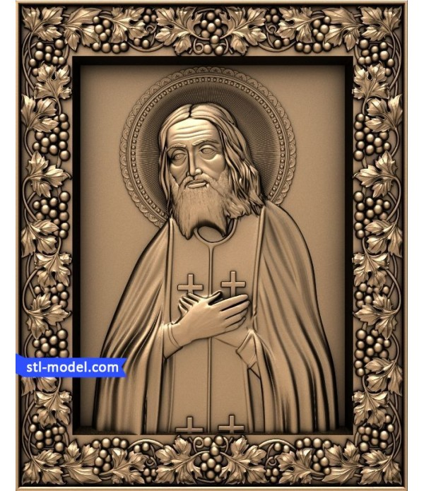 "Icon ""St. Seraphim of Sarov #4"" | STL - 3D model for CNC"