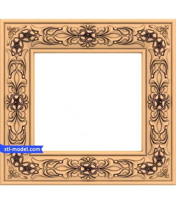 "Frame ""Frame #123"" | STL - 3D model for CNC"