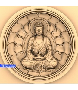 Buddha with a background of №5