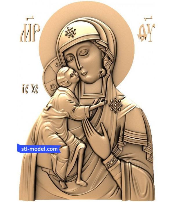 "Icon ""mother of God Fedorovskaya #1"" | STL - 3D model for CNC"