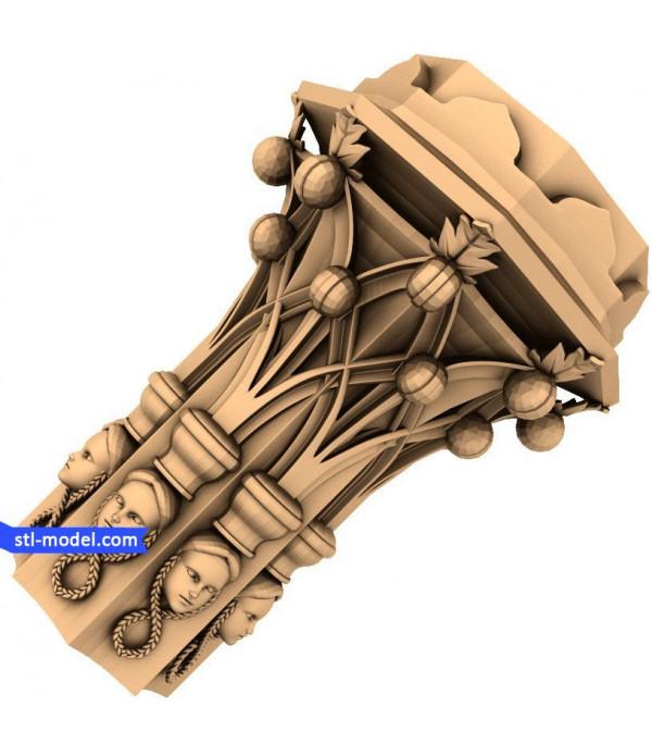 "Baluster ""Balusterl #19"" | STL - 3D model for CNC"