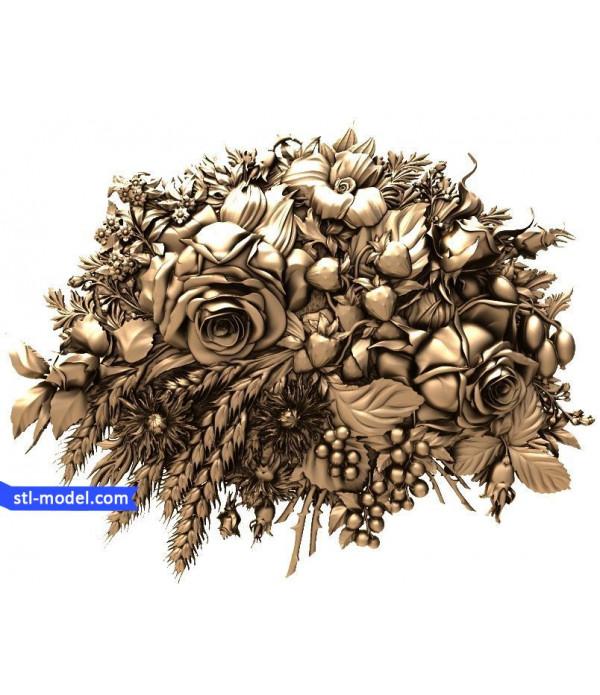 "Flowers ""Flowers #8"" | STL - 3D model for CNC"