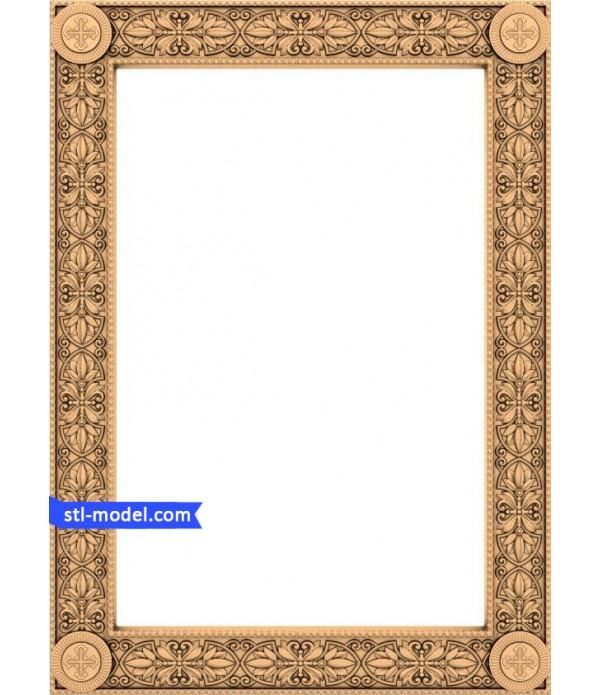 "Frame ""Frame #6"" | STL - 3D model for CNC"