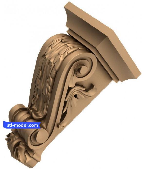 "Corbel ""Corbel #17"" | STL - 3D model for CNC"