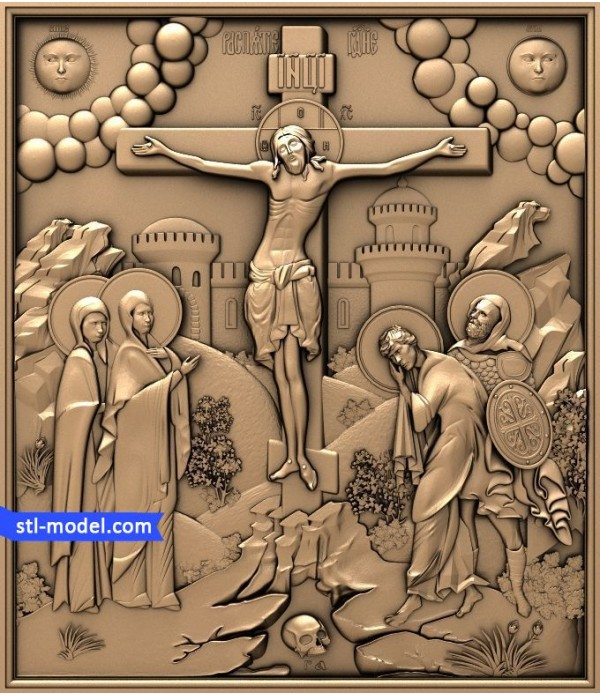 """Icon """"Crucifixion #10"""" 