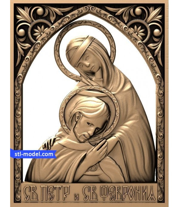 "Icon ""Saint Peter and Saint Fevronia #1"" 