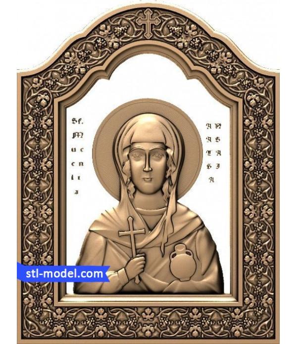 "Icon ""Saint Anastasia #3"" | STL - 3D model for CNC"