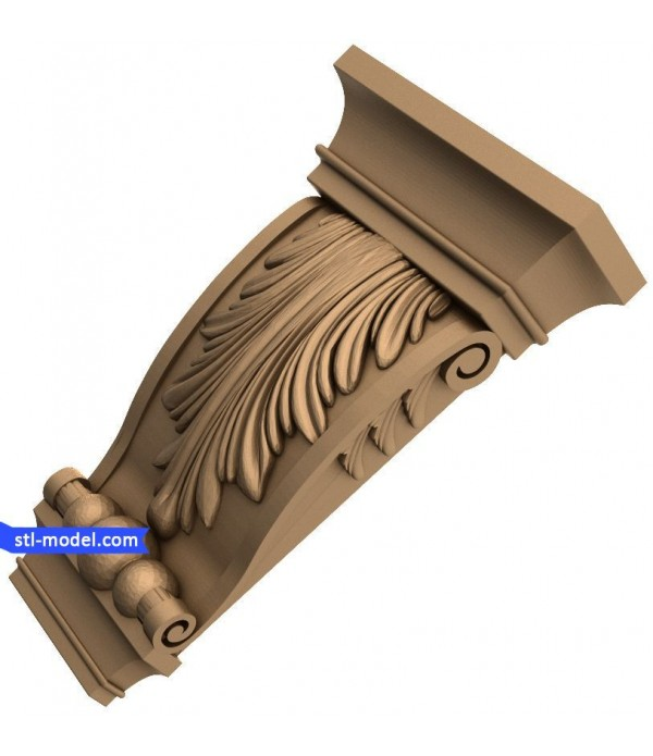 "Corbel ""Corbel #25"" | STL - 3D model for CNC"