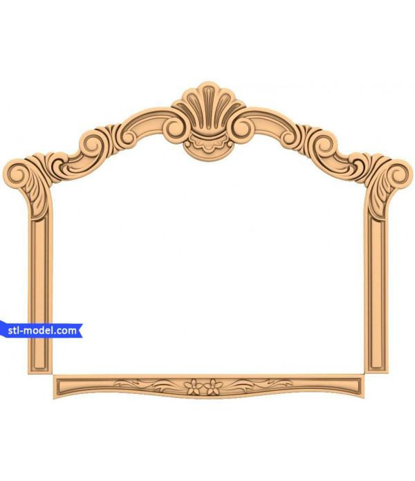 "Frame ""Frame #186"" | STL - 3D model for CNC"