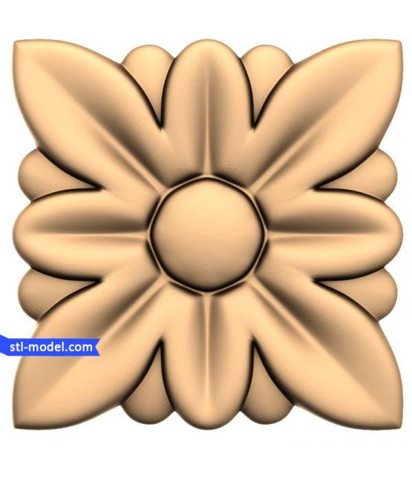 """Rosette """"Rosette #37""""   STL - 3D model for CNC"""