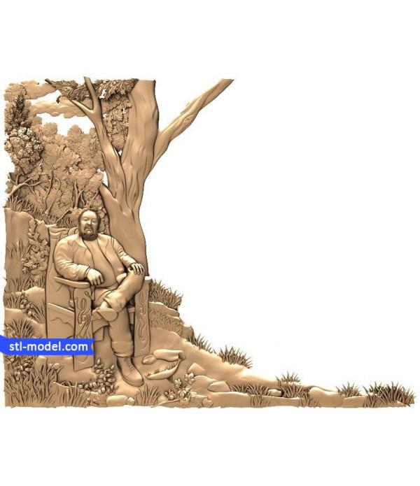 "Bas-relief ""Bas-relief #19"" | STL - 3D model for CNC"