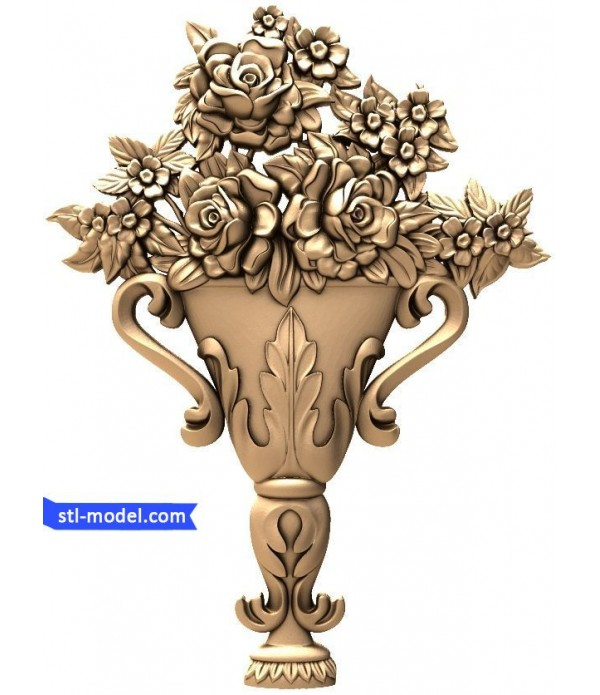 "Flowers ""Flowers #6"" | STL - 3D model for CNC"