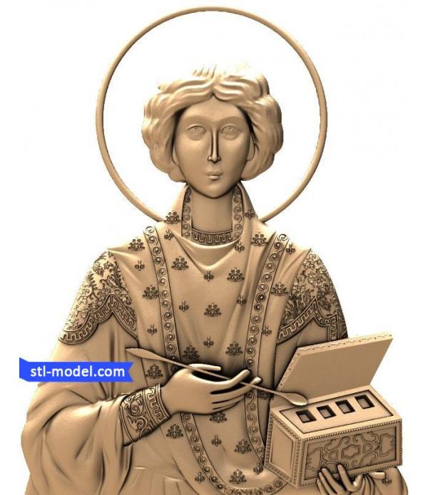 "Icon ""Saint Panteleimon #1"" | STL - 3D model for CNC"