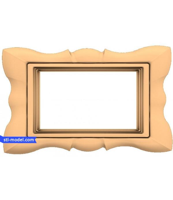 "Frame ""Frame #130"" | STL - 3D model for CNC"
