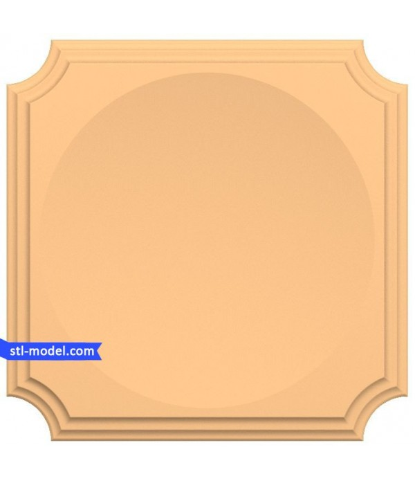 "Frame ""Frame #136""   STL - 3D model for CNC"