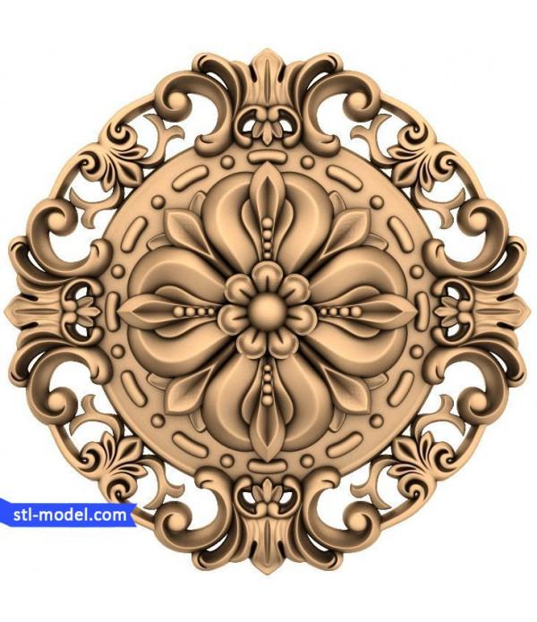 """Rosette """"Rosette #196""""   STL - 3D model for CNC"""