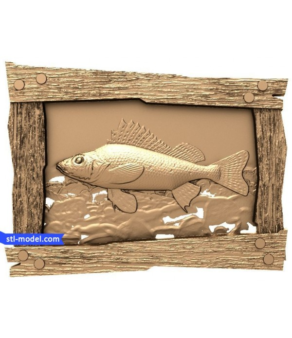 "Bas-relief ""Fish #4"" 