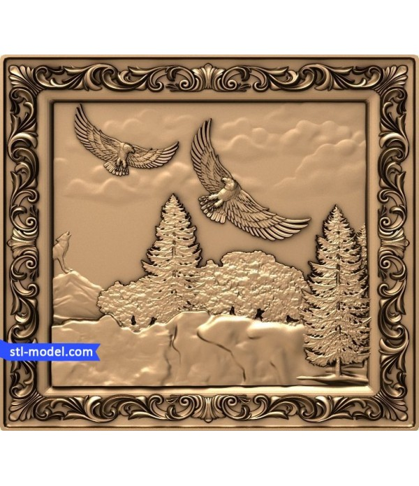 "Bas-relief ""life of the forest"" 