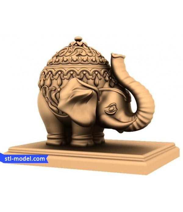 "Character ""Elephant"" | STL - 3D model for CNC"