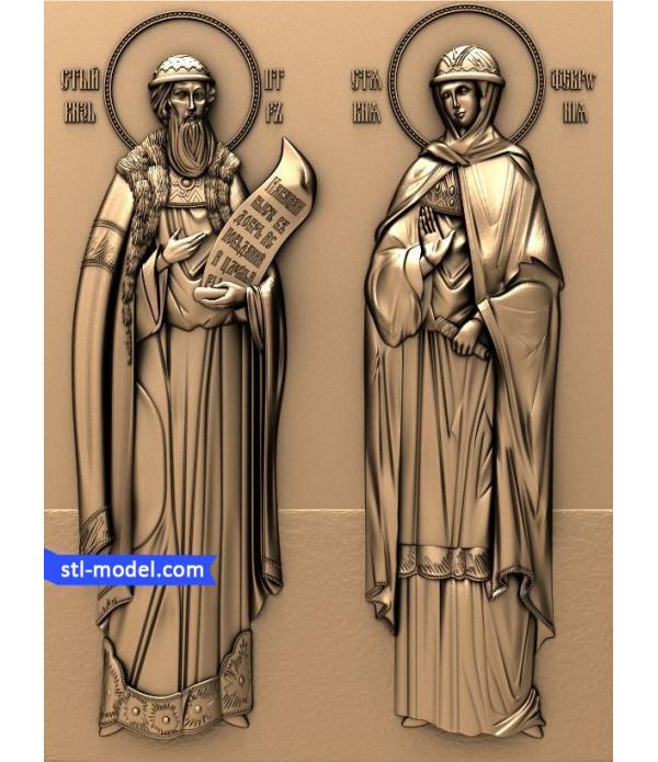 "Icon ""Saint Peter and Saint Fevronia #3"" | STL - 3D model for CNC"
