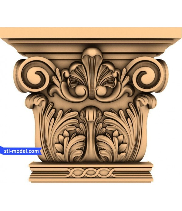 "Chapiter ""Chapiter #4"" | STL - 3D model for CNC"