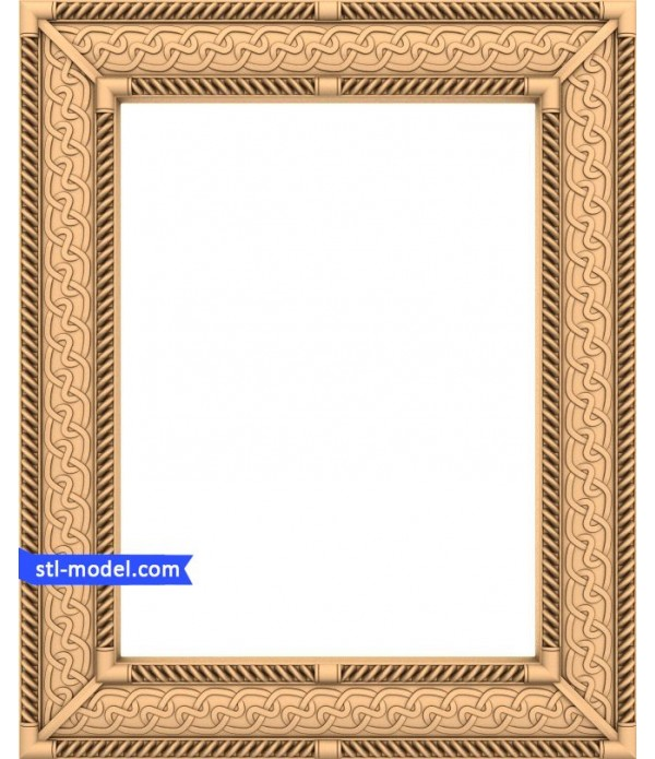 "Frame ""Frame #62""   STL - 3D model for CNC"