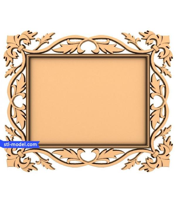 "Frame ""Frame #99"" | STL - 3D model for CNC"