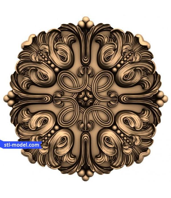 """Rosette """"Rosette #62""""   STL - 3D model for CNC"""