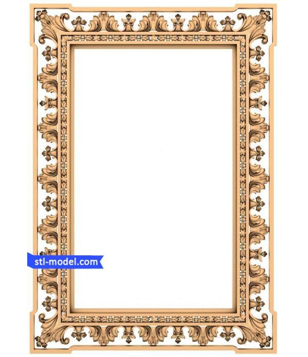 "Frame ""Frame #45"" | STL - 3D model for CNC"