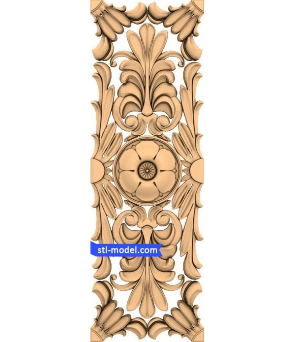 "Panel ""Panel #19"" | STL - 3D model for CNC"