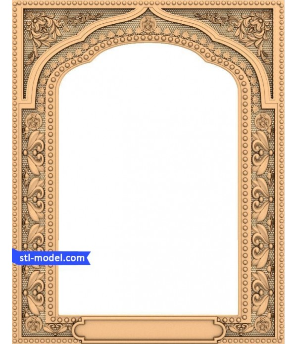 "Frame ""Frame #10"" | STL - 3D model for CNC"
