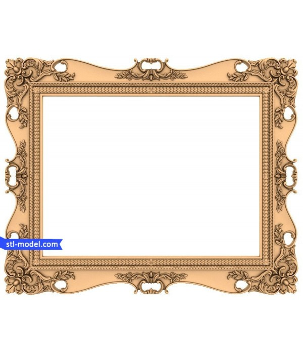 "Frame ""Frame #117""   STL - 3D model for CNC"