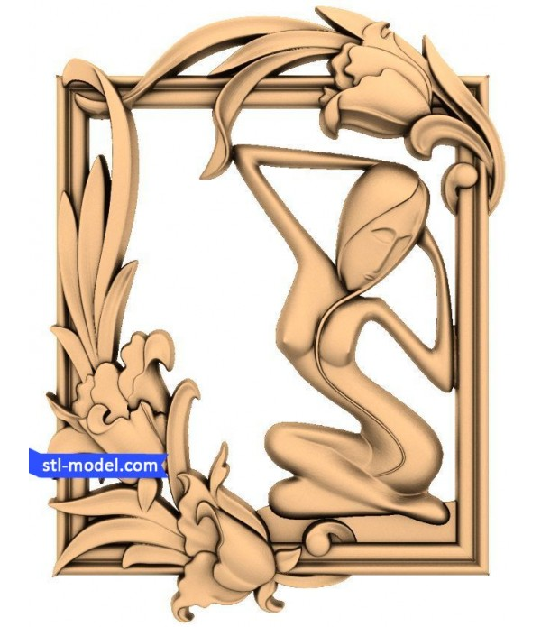 """Bas-relief """"Girl #5"""" 