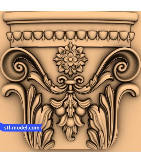 "Chapiter ""Chapiter #12"" | STL - 3D model for CNC"