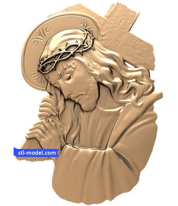 "Icon ""Jesus #4"" | STL - 3D model for CNC"