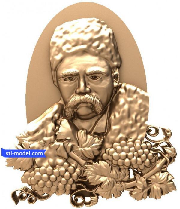"Bas-relief ""Taras Shevchenko #2"" | STL - 3D model for CNC"