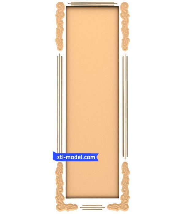 "Frame ""Frame #125"" | STL - 3D model for CNC"