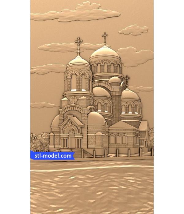 "Bas-relief ""Church"" | STL - 3D model for CNC"