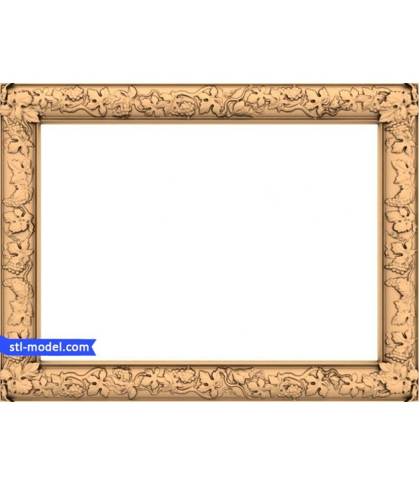 "Frame ""Frame #118"" | STL - 3D model for CNC"