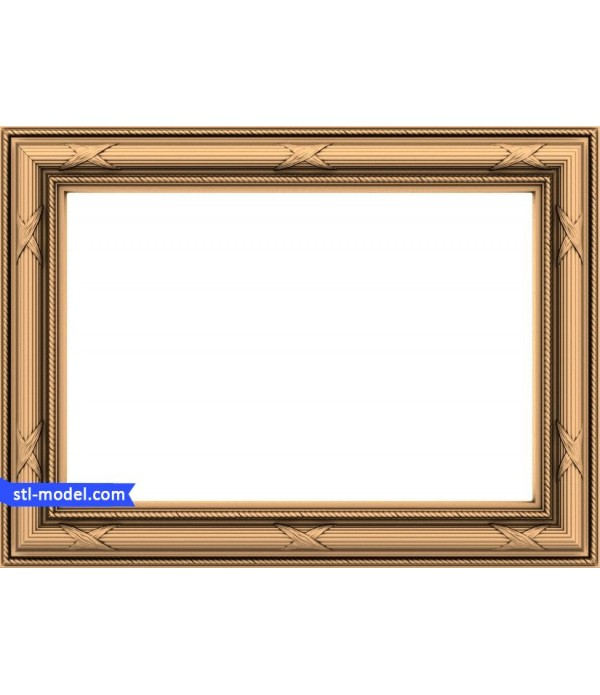 "Frame ""Frame #106"" | STL - 3D model for CNC"