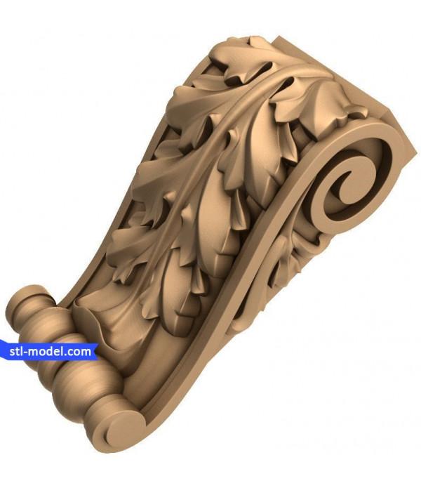 "Corbel ""Corbel #62""   STL - 3D model for CNC"