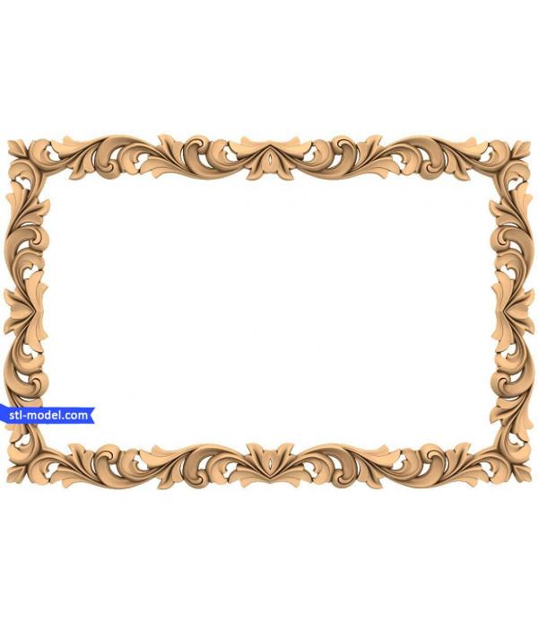 "Frame ""Frame #187"" | STL - 3D model for CNC"