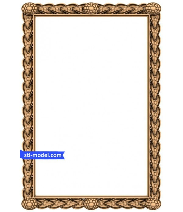 "Frame ""Frame #42"" | STL - 3D model for CNC"