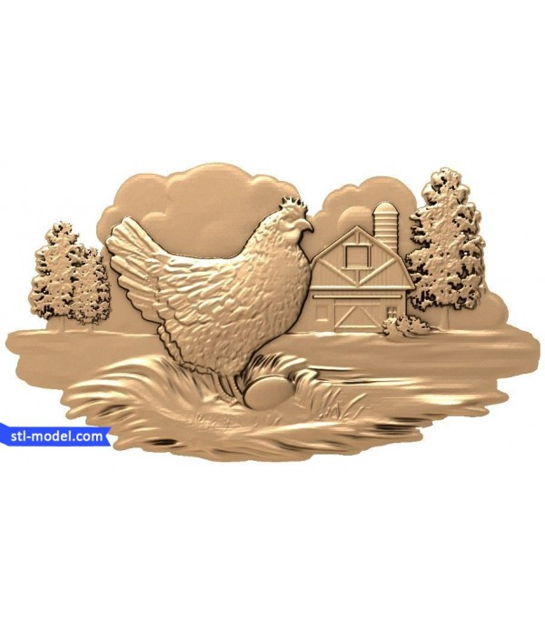 """Bas-relief """"chicken"""" 